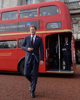 Prince Harry meets supporters of the Royal British Legion's London Poppy Day appeal