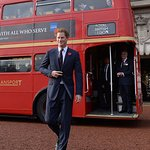 Prince Harry Welcomes Poppy Bus To Buckingham Palace