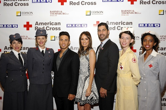Apolo Ohno, Catt Sadler, Jarrett Barrios and Red Cross LA Nurses