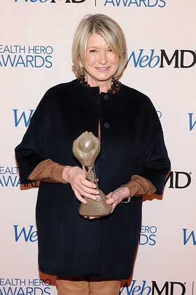 Martha Stewart Accepts People's Choice Award At WebMD Health Hero Awards