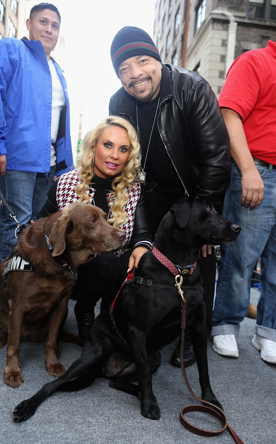Ice-T and Coco with Military Dogs