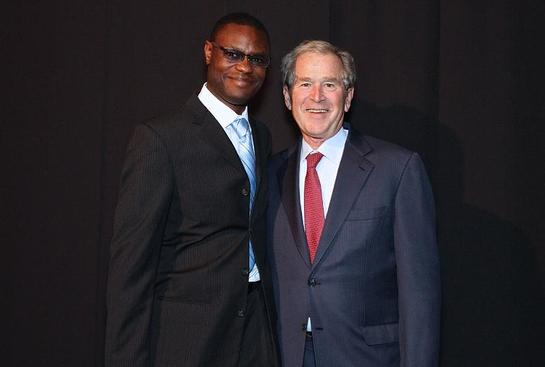Arthur Wylie and President George W. Bush at the Inaugural Legacy Project Dinner