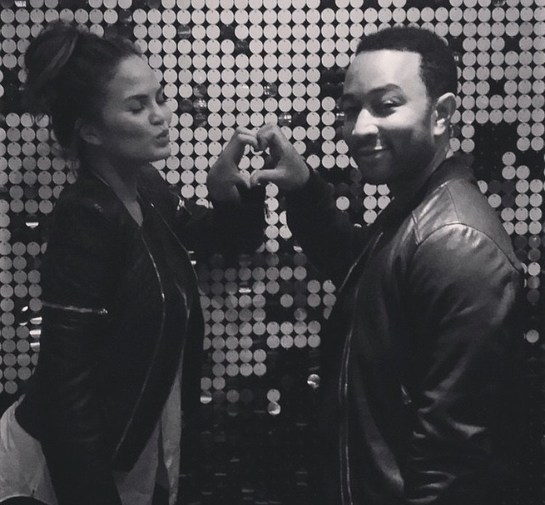 Chrissy Teigen and John Legend join the #HappyHeartsChallenge