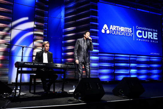 Jonathan Cain and Deen Castronovo attend 2014 Commitment To A Cure Awards Gala