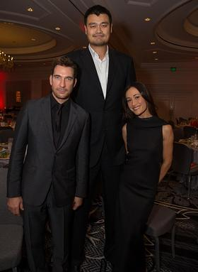 WildAid Ambassador and basketball legend Yao Ming with Dylan McDermott and Maggie Q
