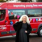 TOWIE Star Presents Variety Sunshine Coach To Essex School