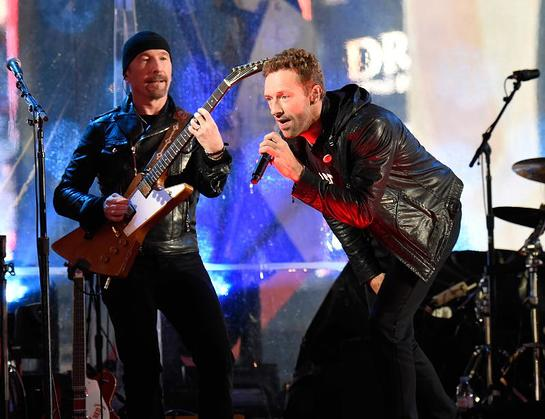The Edge and Chris Martin