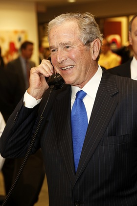Former President George W. Bush speaks to ICAP customers And Supports George W Bush Foundation