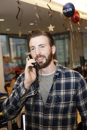 Chris Evans took part in ICAP's 22nd annual global Charity Day at the North American headquarters