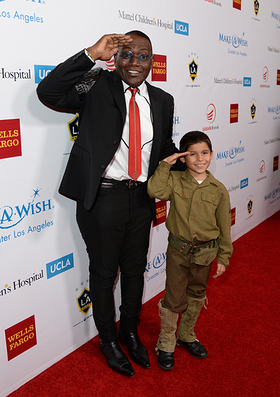 Randy Jackson and Jacob Angel attend the Make-A-Wish Greater Los Angeles Wishing Well Winter Gala