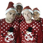 Arsenal Players Support Save The Children Christmas Jumper Day