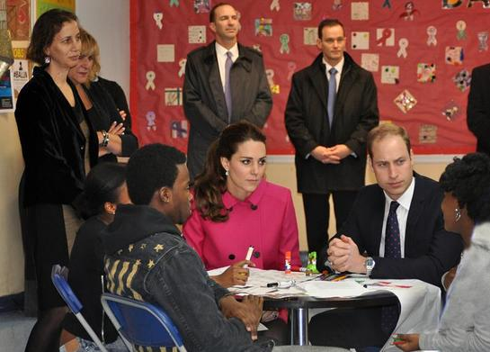 The Duke and Duchess spent time speaking with youth from The Door and The CityKids Foundation during their visit on Tuesday