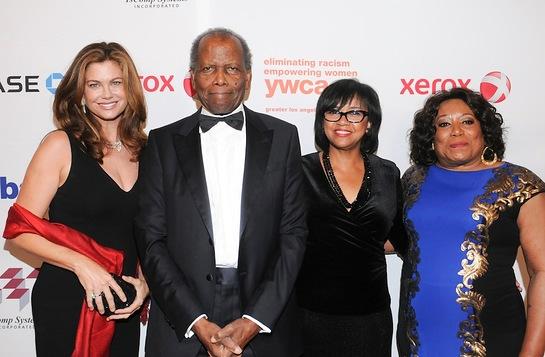 Kathy Ireland, Sydney Poitier, Cheryl Boone Isaacs and Faye Washington