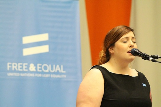 Mary Lambert Performs at the UN