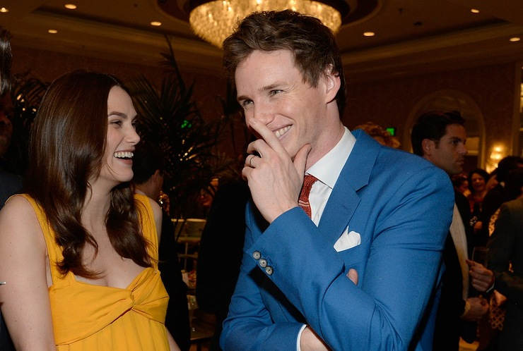 Keira Knightley and Eddie Redmayne at BAFTA Los Angeles Tea Party