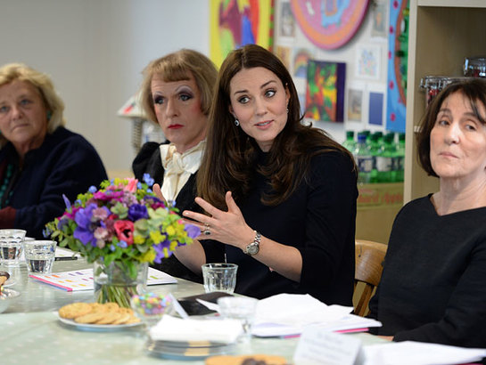 The Duchess of Cambridge participates in a round table discussion about The Art Room