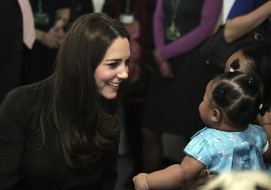 The Duchess of Cambridge meets children in foster care at the Fostering Network
