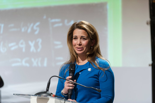 Princess Haya Bint Al Hussein of Jordan speaks during the 2015 Hunger Hero Award ceremony