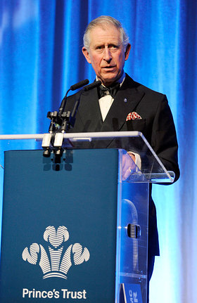 The Prince of Wales makes a speech at the Prince's Trust Youth Leadership reception