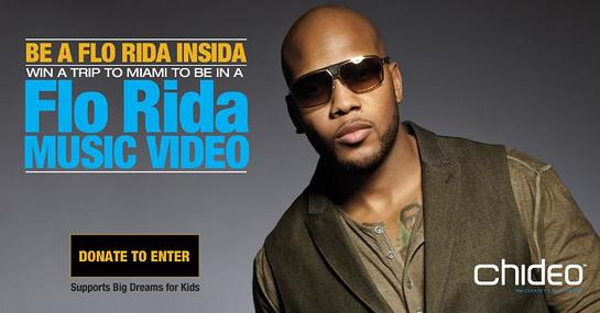 Chideo, the charity network, and Flo Rida are teaming up to make dreams come true