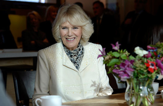 The Duchess of Cornwall during a visit to Maggie's in Newcastle