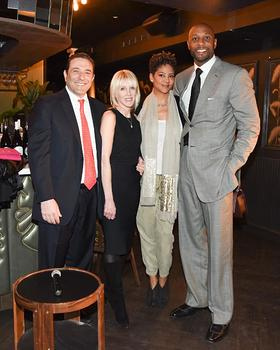 Thomas A. Rizk, Linda Rizk, Tracy Wilson-Mourning, and Alonzo Mourning at the Rizk Ventures and Mourning Family Foundation Event