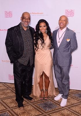 Danny Simmons, Angela Simmons, Russell Simmons