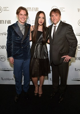 Ellar Coltrane, Lorelei Linklater and Richard Linklater