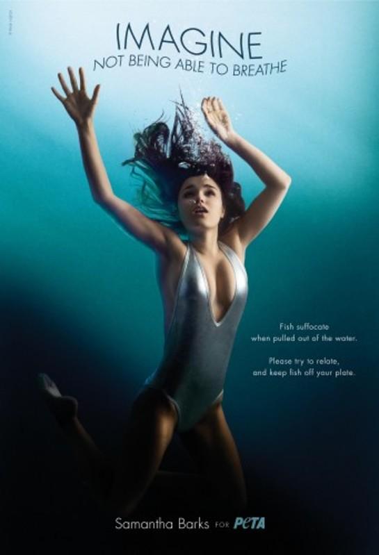 Samantha Barks' PETA Ad
