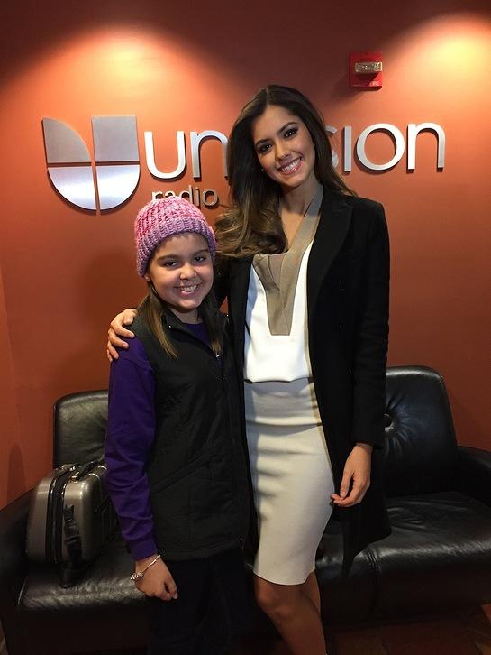 St. Jude patient Neisha and Miss Universe 2014 Paulina Vega