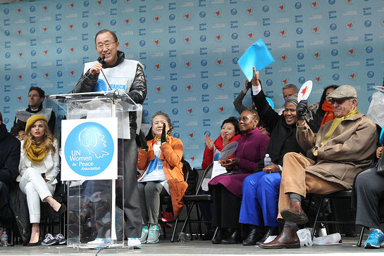 UN Secretary-General Ban Ki-moon calls for boosted global efforts to achieve gender equality
