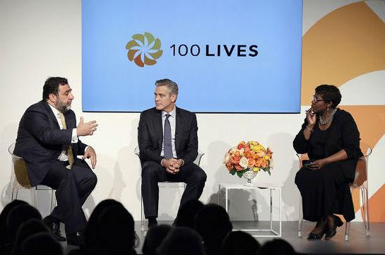 Ruben Vardanyan, George Clooney, and Gwen Ifill