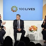 George Clooney Hits the Stage to help launch the 100 Lives Initiative