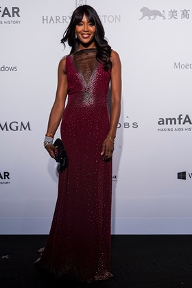 Naomi Campbell at amfAR Hong Kong
