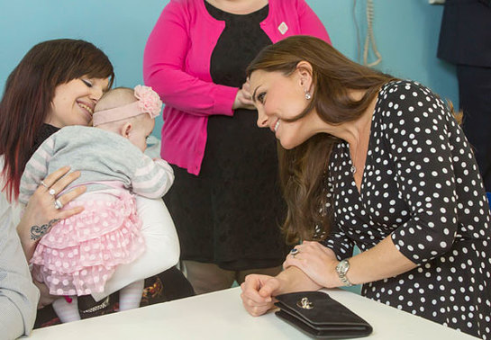 Duchess of Cambridge visits children at Brookhill Children's Centre