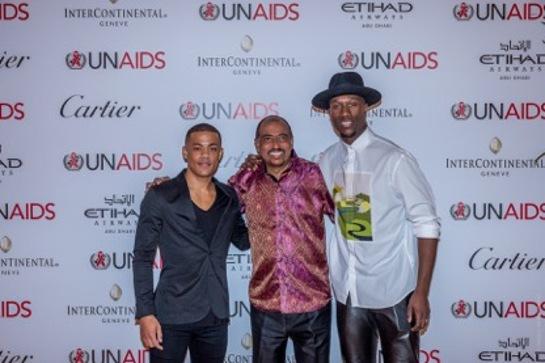 Michel Sidibé with Nico & Vinz