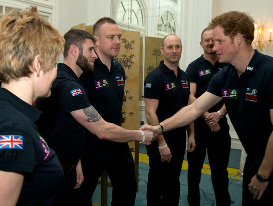 Prince Harry meets the Walk of Britain expedition team