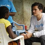 Orlando Bloom Visits Ebola-Affected Communities In Liberia