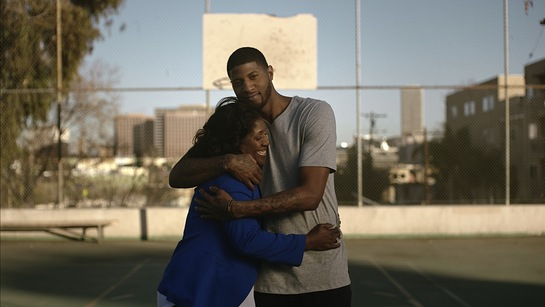 Paul George with his mother, Paulette