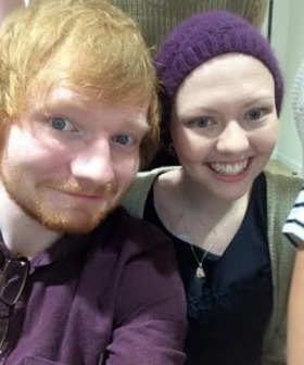 Ed Sheeran with Jess Knight