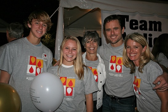 Esten and his family Light The Night