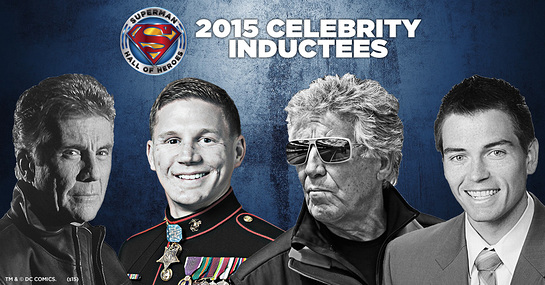 Superman Hall of Heroes Inductees: Mario Andretti, John Walsh, Medal of Honor Recipient Kyle Carpenter and 2014 National Teacher of the Year Sean McComb