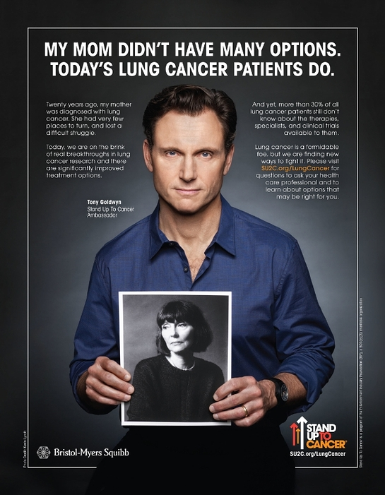 Tony Goldwyn in a lung cancer PSA with Stand Up To Cancer (SU2C) and Bristol-Myers Squibb