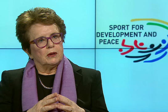Billie Jean King, former world No.1 tennis player and advocate for gender equality
