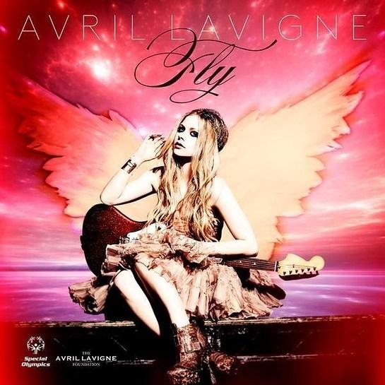 "Avril Lavigne cover art for ""Fly"" - photo by Mark Liddell"