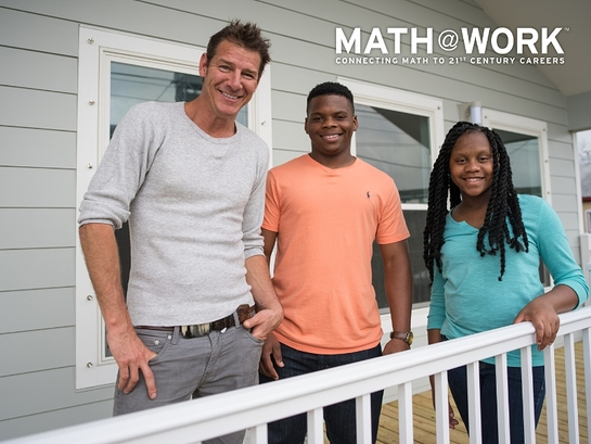 Ty Pennington and two New Orleans students give mathematics an extreme makeover