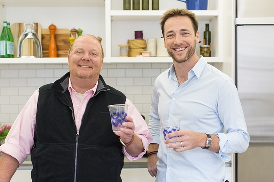 Mario Batali and Cheeky founder, PJ Brice