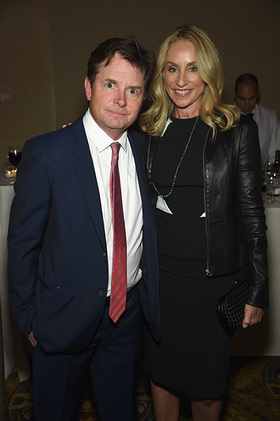 Michael J. Fox (L) and Tracy Pollan attend the Food Bank For New York City Can Do Awards Dinner Gala