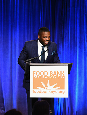"Curtis ""50 Cent"" Jackson speaks onstage during the Food Bank For New York City Can Do Awards Dinner Gala"