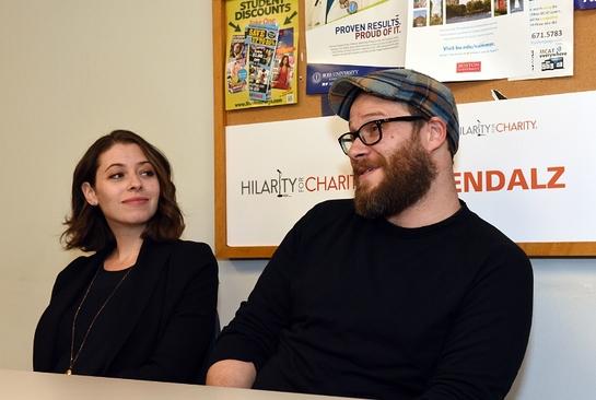 Lauren Miller Rogen and husband Seth Rogen share their Alzheimer's story with media